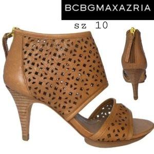 """BCBGMAXAZRIA """"Ma Helena"""" leather sandal Sz 10 $195"""